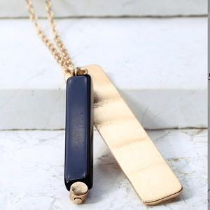 Jewelry - Natural Stone Bar Necklace
